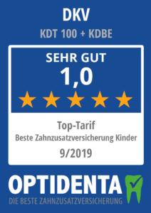 Beste Zahnzusatzversicherung 2019 für Kinder Top Tarif DKV KDT 100 + KDBE