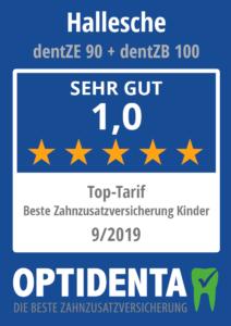 Beste Zahnzusatzversicherung 2019 für Kinder Top Tarif Hallesche dentZE 90 + dentZB 100