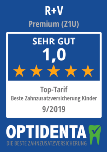 Beste Zahnzusatzversicherung 2019 für Kinder Top Tarif R+V Premium