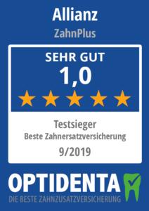 Beste Zahnersatzversicherung 2019 Testsieger Allianz ZahnPlus