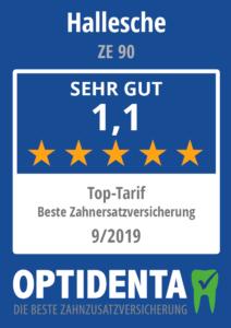 Beste Zahnersatzversicherung 2019 Top Tarif Hallesche ZE 90