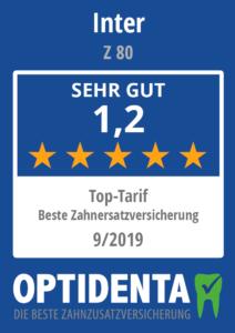 Beste Zahnersatzversicherung 2019 Top Tarif INTER z 80