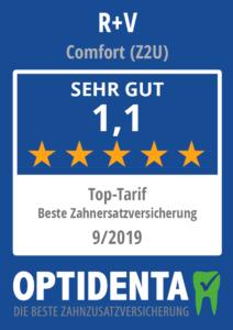 Beste Zahnersatzversicherung 2019 Top Tarif R+V Comfort