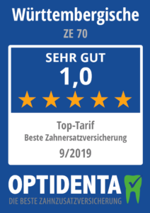 Beste Zahnersatzversicherung 2019 Top Tarif Württemerbergische ZE 70