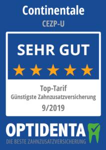 Günstigste Zahnzusatzversicherung 2019 Top-Tarif nach Art der Lebensversicherung Continentale CEZP-U