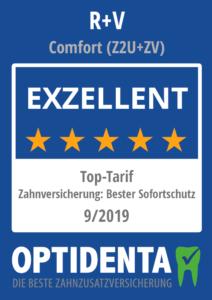 Beste Zahnzusatzversicherung 2019 Top-Tarif Sofortschutz R+V Comfort