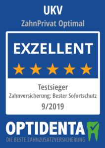 Beste Zahnzusatzversicherung 2019 Testsieger Sofortschutz UKV ZahnPrivat Optimal