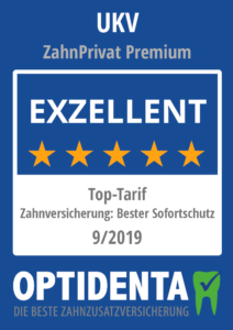 Beste Zahnzusatzversicherung 2019 Top-Tarif Sofortschutz UKV ZahnPrivat Premium